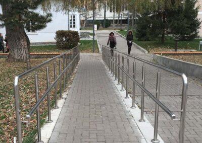 Balustrade Inox Rampa - Universitatea Stefan cel Mare, Suceava