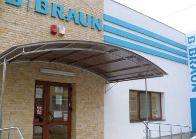 Copertina Balustrade Inox - Centrul de Dializa B. Braun Suceava