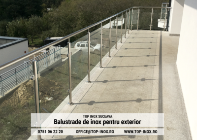 Balustrada de inox pentru exterior