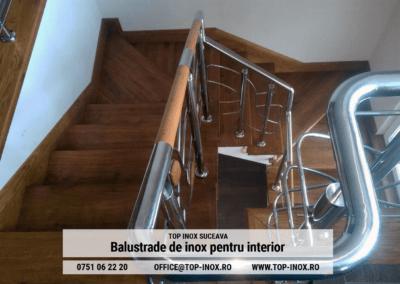 Balustrada din inox si lemn pentru locuinta personala