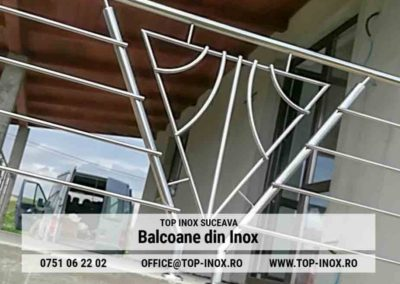 Detaliu Balcon Inox