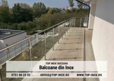Balcon Inox Sticla